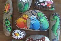 7 Stone paint - Stenen schilderen