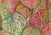 5 Zentangles - Zendala