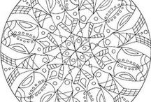 5 Mandala patterns - Mandala patronen