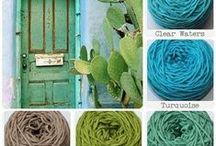 5 Collor pallet with wool - Kleuren pallet met wol