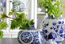 Blue and White / A beautiful home dressed in blue and white. Inspiration from our lovely favorite homes including Jacaranda Living and other products.