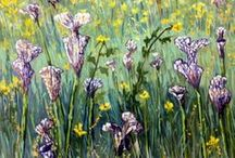Paintings of Fields / original oil and acrylic landscape paintings of agricultural fields by artist linda blondheim