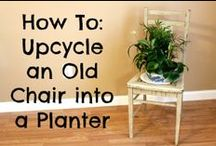 Chair Planters / If I were a Rich Man.........
