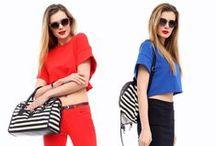 """Trends - GLAM SPORTS / Sportowa linia w połączeniu z szykiem w stylu glamour. Kolekcja pełna egzotycznych nadruków w formie """"digital"""". W kolorystyce dominują: biel, czerń zestawiona z różem, kobaltem lub czerwienią. Proste formy ubrań, nadruki i ozdobne struktury."""