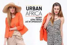 """Trends - URBAN AFRICA / Inspiracja Afryką, zwierzęcymi  wzorami  z elementami geometrycznymi i akcentem w koloru pomarańczowego. Sylwetka jest luźna, zwiewna, """"letnia"""", a przy tym nowoczesna."""