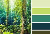 UI - Colour Green Schematas / Green colour scheme inspiration