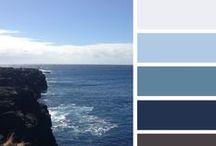 UI - Colour Blue Schemata / Inspiration for blue tone UI design