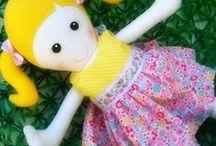 Boneca pano / Boneca de tecido e feltro