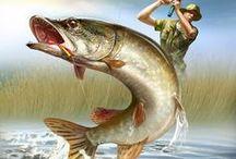 картинки для творчества - рыбалка, морское