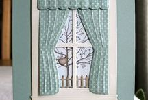 Memory box|Poppystamps, Window Dies, curtains Dies, Window Shutter Dies