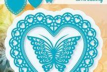 Joy Crafts - 6002/0381 Сердечки и бабочка