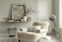 Love Neutral / Room schemes in shades if neutral black and white