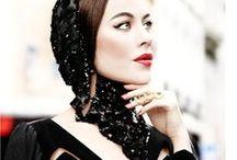 ♥ Fashion icon Ulyana / Ulyana Sergeenko - I adore this fabulous woman and all her collections... feminine silhouettes, beautiful fabrics, perfectly polished hairdo, vintage ladylike glamor...