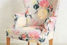 Fabric inspiration for recovering chairs