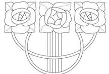 art nouveau stencils, floral patterns / Stencils, ornaments and so on collected and redrawn into design source png. Window art, embroidery.. whatever creative :)