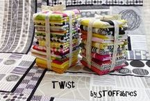 Twist collection designed by STOF fabrics / Ask for STOF fabrics at your local quilt shops and fabric retailers.
