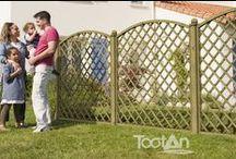 Palissade bois Tootan / Clôturez votre jardin avec notre large sélection de palissades, lames de remplissage, et treillis... et recomposez l'intimité de votre extérieur en toute sérénité