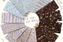 """''La Vie est Belle'' designed by Marie Suarez and Kristel Salgarollo for STOF fabrics / This beautiful collection celebrates the wonderful things in life. The name """"La Vie est Belle"""" means """"life is beautiful"""". The collection was specially designed for STOF fabrics by the wonderful designers Marie Suarez and Kristel Salgarollo."""