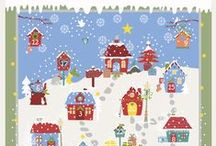 "''Snow Village'' designed by STOF fabrics / The Snow Village collection is just magical. Each number in the advent calendar has its own little story. F.ex.: nr. 9.''You may be kissed under a misteltoe''. When looking at the whole collection you can feel the touch of love that our designer created it with. 100% cotton, 44""/112cm wide. In retail from August 2016"