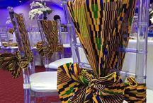 African wedding chairs / Chair decoration African style