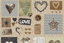 """""""Cosy Home"""" collection designed by STOF fabrics / You can create so many different project with this collection. - Home is where the heart is, so fill your home with love with these lovable fabrics."""
