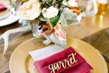 Escort cards 1 / Place cards for VIP tables