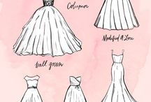 Dress shapes silhouettes / Wedding dress silhouette