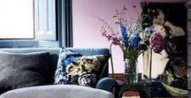 Colour clash #iWantThatStyle / An interior design room scheme that clashes the colours pink and navy