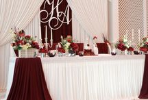Backdrop Reception draping / Headtable Backdrop Draping style