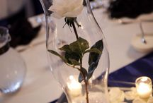 Centerpieces small budget / Wedding centerpieces single flower