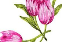 Tulips Embroidery Designs / Tulips Embroidery Designs