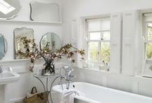L'art du bain - Around the bath... / (styles country chic, romantic, manor, charm, gustavian, victorian - campagne cottage chic, romantique, manoir, charme, château, victorien, gustavien)
