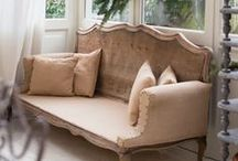 Salon inspirations - Sofa inspirations / (styles country chic, romantic, manor, charm, gustavian, victorian - campagne cottage chic, romantique, manoir, charme, château, victorien, gustavien)