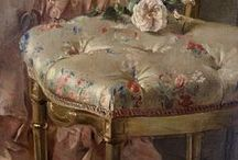 Une touche XVIIIème - 18th century fad / (styles country chic, romantic, manor, charm, gustavian, victorian - campagne cottage chic, romantique, manoir, charme, château, victorien, gustavien)
