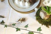 Les fleurs à table - Table floral arrangements / (styles country chic, romantic, manor, charm, gustavian, victorian - campagne cottage chic, romantique, manoir, charme, château, victorien, gustavien)