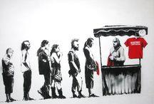 Bansky / Bansky art / by Mara Pineau