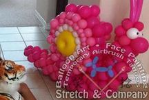 Stretch & Company Balloon Art - Twisted Balloon Deliveries / Why not be different and send a one-of-a-kind gift that is not only unique, but custom made just for them? Balloon deliveries are special balloon sculptures that can be delivered in person if you live in or near the Dallas - Fort Worth area of Texas, or they can be shipped anywhere in the continental US. A balloon delivery from Stretch the Balloon Dude can be a simple bouquet of flowers or a life sized balloon caricature of the recipient if it's being delivered in person. http://www.stretchc.com