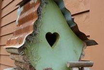 Birdhouses and Birdbaths