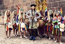 """Fashion Inspiration """"Peru, bolivia, colombia backpack trip"""" / Colors, colors, colors. Sleeping on a farm getting rids, living life to the fullest."""