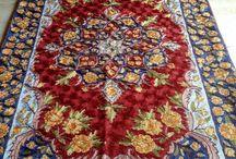 Carpets, cushions and tapestries. Handicraft of the Kashmir. / Artesania milenaria del kashmir. Bordados manuales en seda y lana. Diferentes medidas y modelos. Inspirados en la flora de esta región de los Himalaya.
