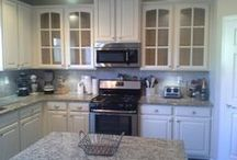 KITCHEN MAKEOVERS / Money saving kitchen makeovers! Craig W. Morgan Enterprises Inc. Cumming GA www.glazed-cabinets.com