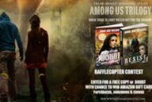 Among Us Trilogy award winning End of times/Armageddon thriller / Images and Scenes from  Among Us Trilogy by Anne-Rae Vasquez.  Former child prodigies, Harry Doubt and Cristal Hernandez, tech geeks addicted to the online game Truth Seekers, decide to take their game offline, with the help of other gamers, to find the truth behind their missing loved ones' mysterious disappearances. What they uncover inadvertently triggers a chain of events causing the beginning of the end of the world as they know it.