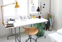 Workspace Inspiration / Wallpaper Ink's collection featuring home office decor and workspaces.