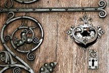 locks and hinges / Just love these, fantastic metalwork, beautiful and functional...