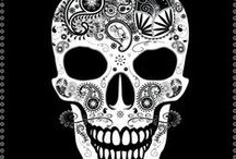 Skull / Skull illustrations. Fabric & Packaging illustrations for embroidery, print on paper and print on fabric.