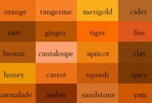 Rust (reddish-orange) / Every item imaginable that has the hue of rust.  A red-orange-brown color resembling iron oxide.