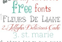 Fonts & Lettering / by Button Love (Candice)