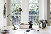 Interiors > Home Office / Inspiration for my home office, including desks, office decor, shelves, inspiration boards, bulletin boards, office chairs, office supplies, and office accessories.