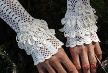 Crochet Clothing / scarfs, gloves, hats, mittens, texting gloves, hair accessories, booties, slippers, shoes, jackets, sweaters, wraps, shawls. / by * RobsFan-tasy *