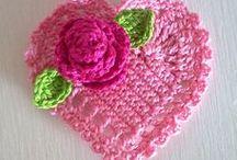 Crochet Hearts and Butterflies